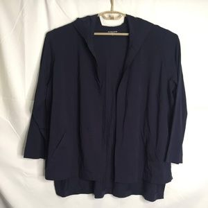 Eileen Fisher Open Front Hoodie Sweater Size 3X